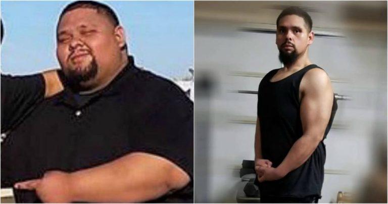 Ele emagreceu 80 kg para salvar a vida de sua irmã