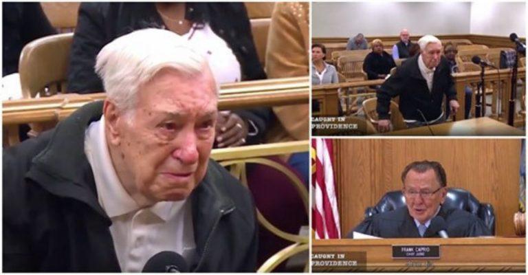 O motivo emocionante que fez um juiz perdoar esse idoso de 96 anos por excesso de velocidade