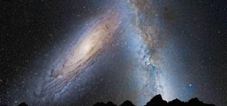"""Andrômeda é uma """"galáxia canibal"""" e pode engolir a Via Láctea"""