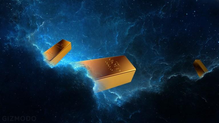 O ouro veio do espaço?