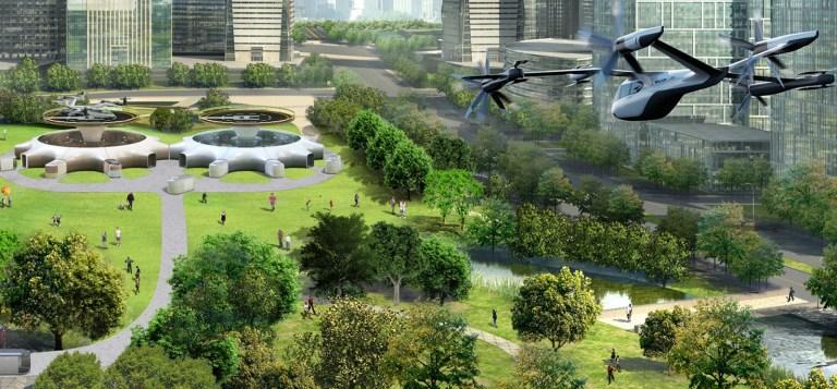 O carro voador é apresentado pela Hyundai e Uber