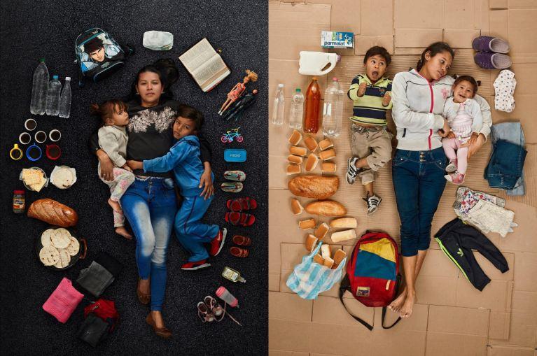 Essas fortes imagens vão mostrar o cotidiano das famílias venezuelanas que resolvem deixar o país