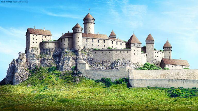Veja como eram alguns castelos na Europa antes de caírem em ruínas