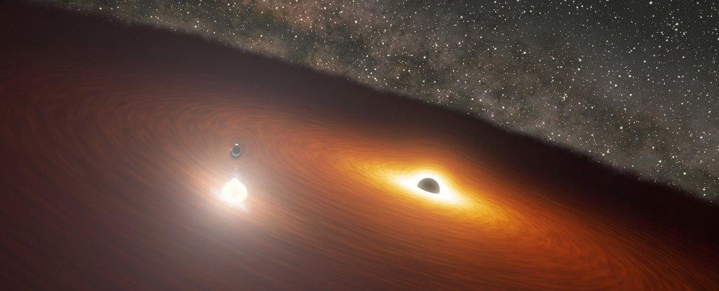 Astrônomos preveem aglomeração de dois buracos negros supermassivos rodopiantes