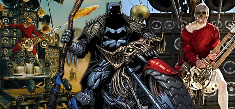 Nova capa transforma o Batman num astro de Rock