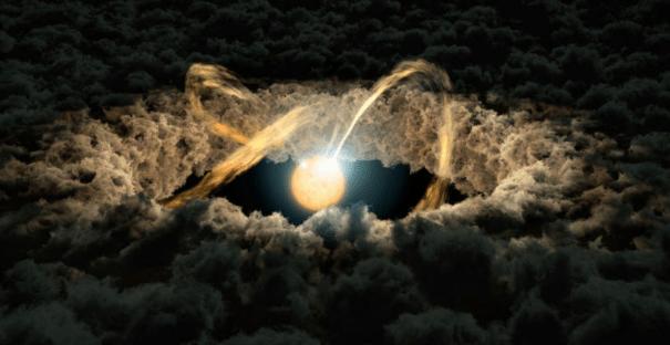 Imagens mostram planetas se formando