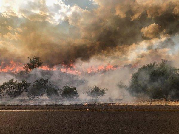 Incêndio florestal foi tão grande que foi visto do espaço