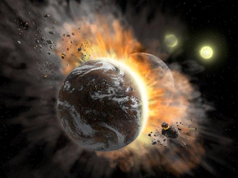 Inteligência artificial prevê quais planetas vão se chocar uns com os outros