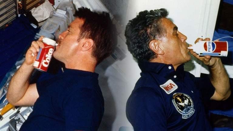 Qual foi o primeiro refrigerante a ser consumido no espaço?