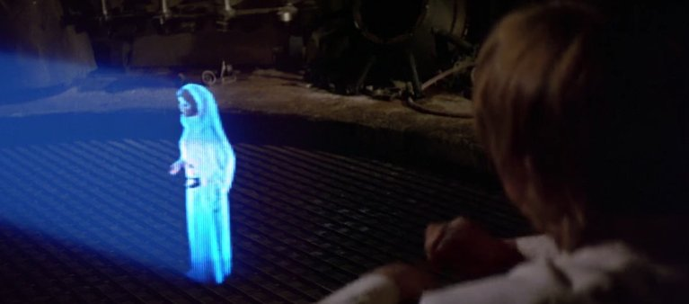 Cientistas criaram holograma no estilo Star Wars na realidade