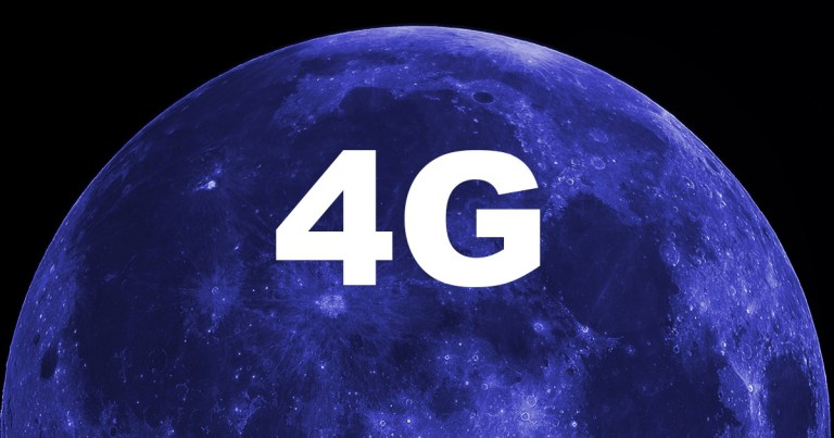 A lua ganhará serviço de celular 4G