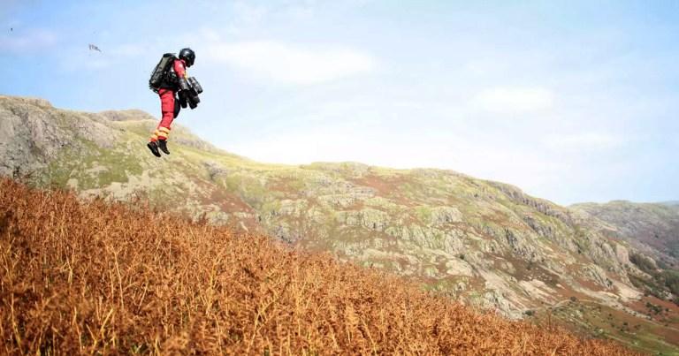 Propulsores a jato são testados para resgates nas montanhas
