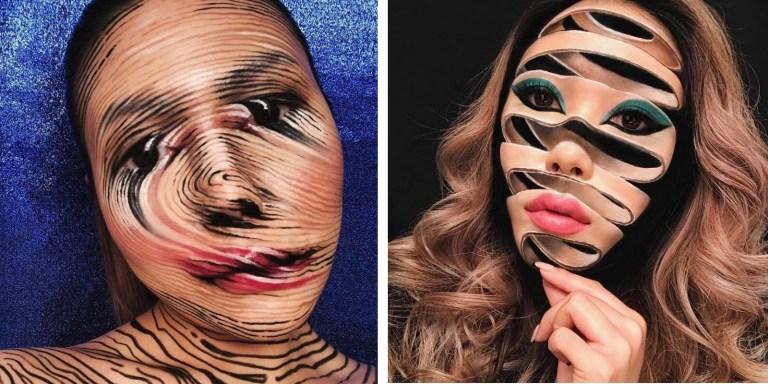 Conheça a artista que cria ilusões de ótica usando apenas maquiagem