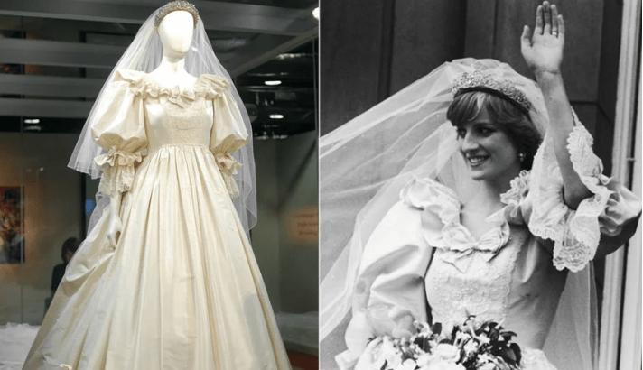 5 curiosidades pouco conhecidas sobre o vestido de noiva de Lady Di