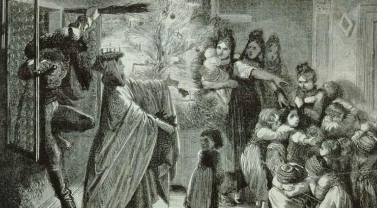 O terrível conto de Hans Trapp, o espantalho do Natal