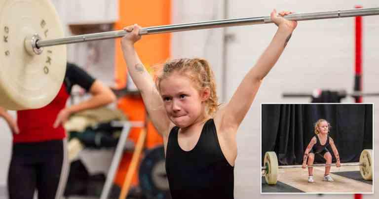 Canadense de apenas 7 anos é considerada a garota mais forte do mundo