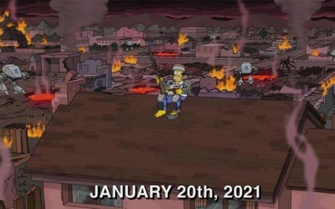 Os Simpsons previram a invasão ao Capitólio?