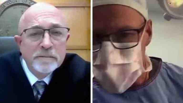 Cirurgião participa de audiência judicial virtual nos EUA enquanto operava paciente