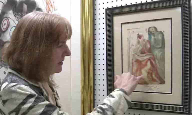 Xilogravura de Dalí estava à venda em brechó por apenas US$10