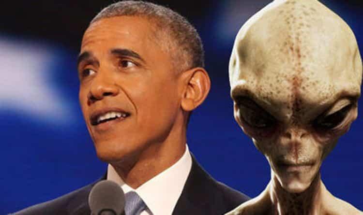 """Obama disse: """"Quando se trata de aliens, há coisas que eu simplesmente não posso dizer no ar"""""""