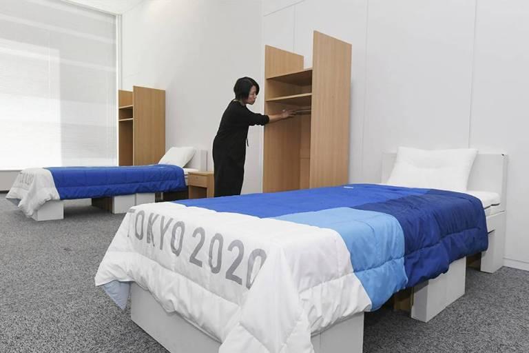 As camas das Olimpíadas foram feitas de papelão para evitar relações sexuais