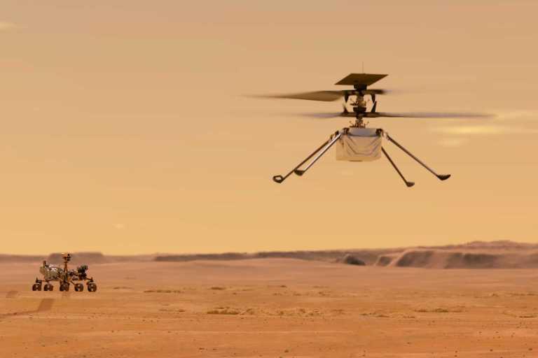 Helicóptero da NASA em Marte atingiu um grande marco
