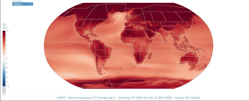 Esse atlas interativo mostra o futuro das mudanças climáticas