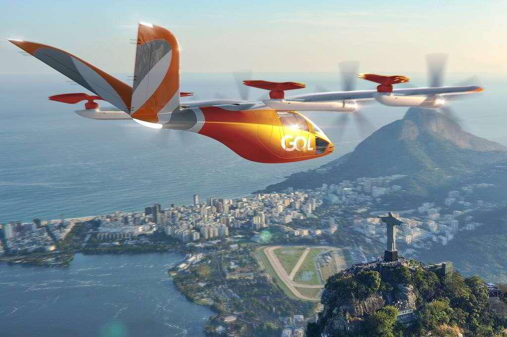 Brasil pode ter carros voadores elétricos em 2025