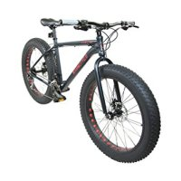"Alton Mammoth 2.0 / Fat-Tire Bike / 26"" Wheel / 27-Speed / Alloy Frame / Black"