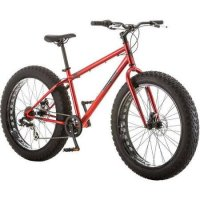 Mongoose Hitch Men's Fat Tire Bicycle, Red, 26""