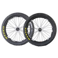 ICAN 26er 90mm Carbon Super Light Fat Bike Wheels with Foldable Tire and Tube