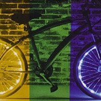 Brightz, Ltd. Color Morphing Wheel Brightz LED Bicycle Light (2-Pack Bundle for 2 Tires)