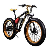 RICH BIT TP012 Electric Fat Bike Mountain Bicycle Snow Bike Cruiser Ebike 1000 Watt Motor 48V 17Ah Lithium-ion Battery 20''4.0 inch Fat Tire Suspension Fork Yellow