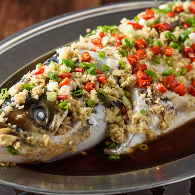 Normal Steamed Fish Head-清蒸鱼头