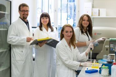Group of researchers in laboratory