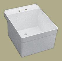 florestone 20wm 1 wall mount utility sink white