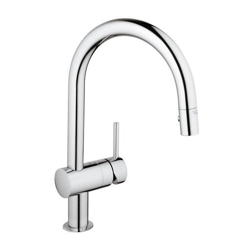 grohe 31378000 minta single handle pullout kitchen faucet chrome