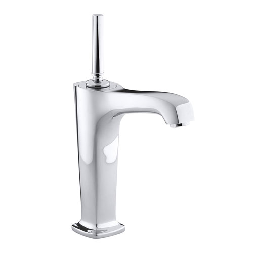 kohler k 16231 4 cp one handle single control vessel lavatory faucet polished chrome