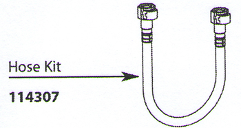moen 114307 aberdeen replacement hose kit