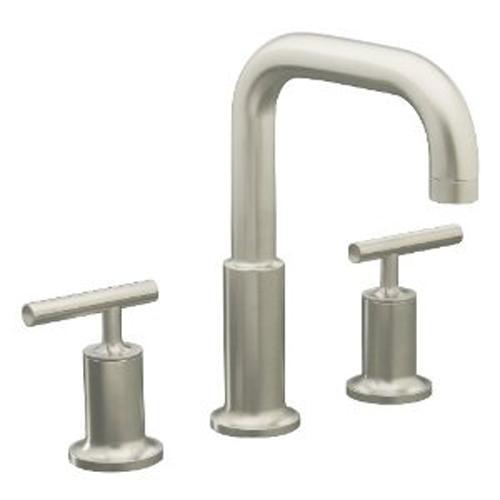 kohler k t14428 4 bn two handle roman tub faucet trim kit brushed nickel