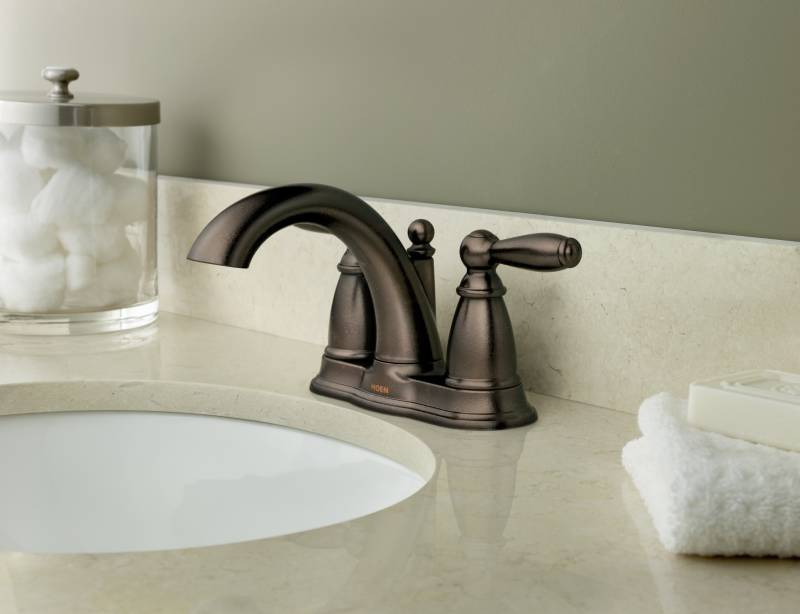 moen 6610orb brantford two handle centerset lavatory faucet oil rubbed bronze