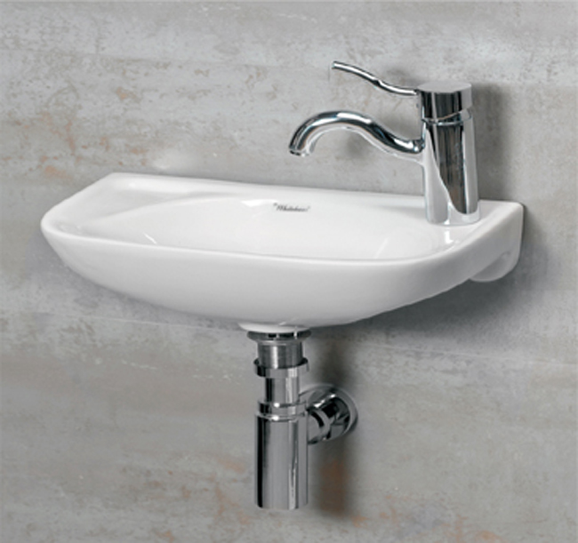 Whitehaus WH102LWH Jem Small Wall Mount Lavatory Sink With