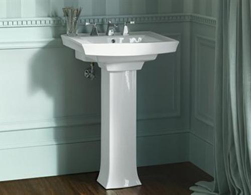 installing a bathroom pedestal sink