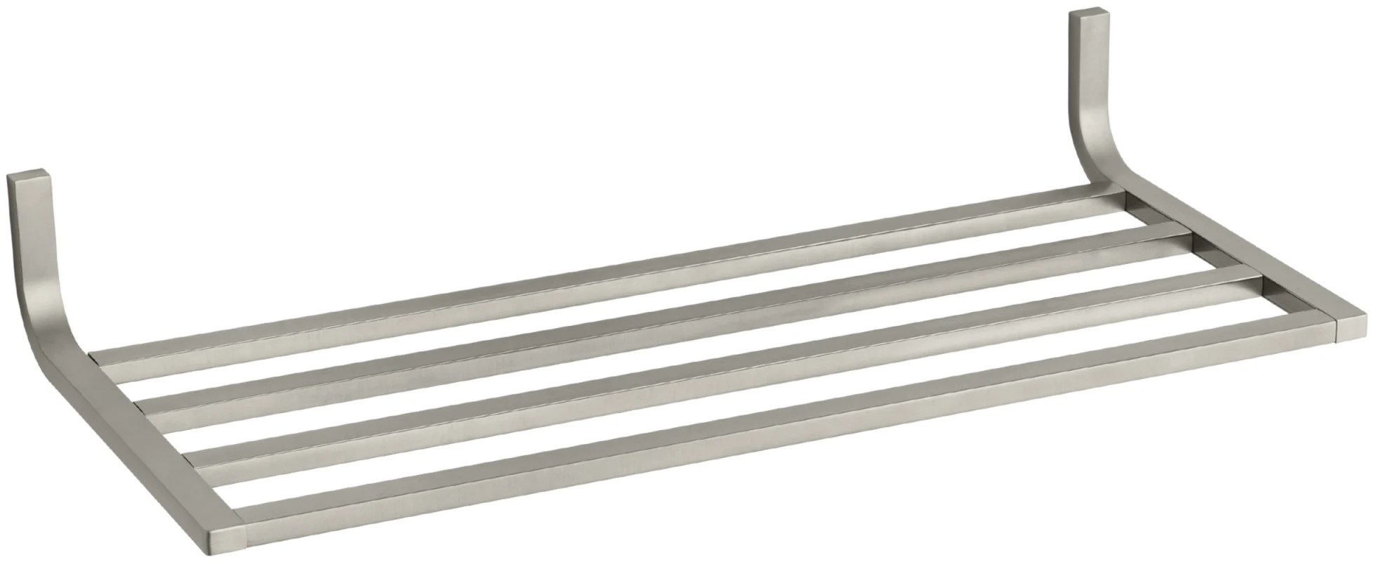 Kohler K Bn Brushed Nickel Modern Metal Towel Shelf