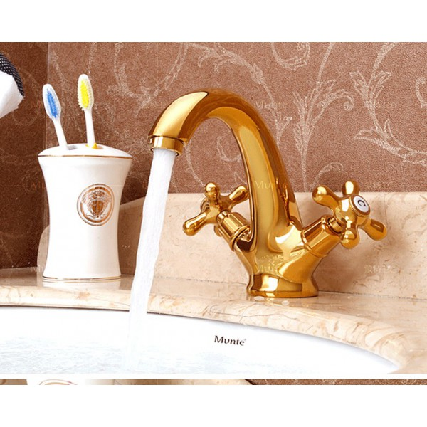 bathroom tap antique tap contemporary golden polished brass mixers
