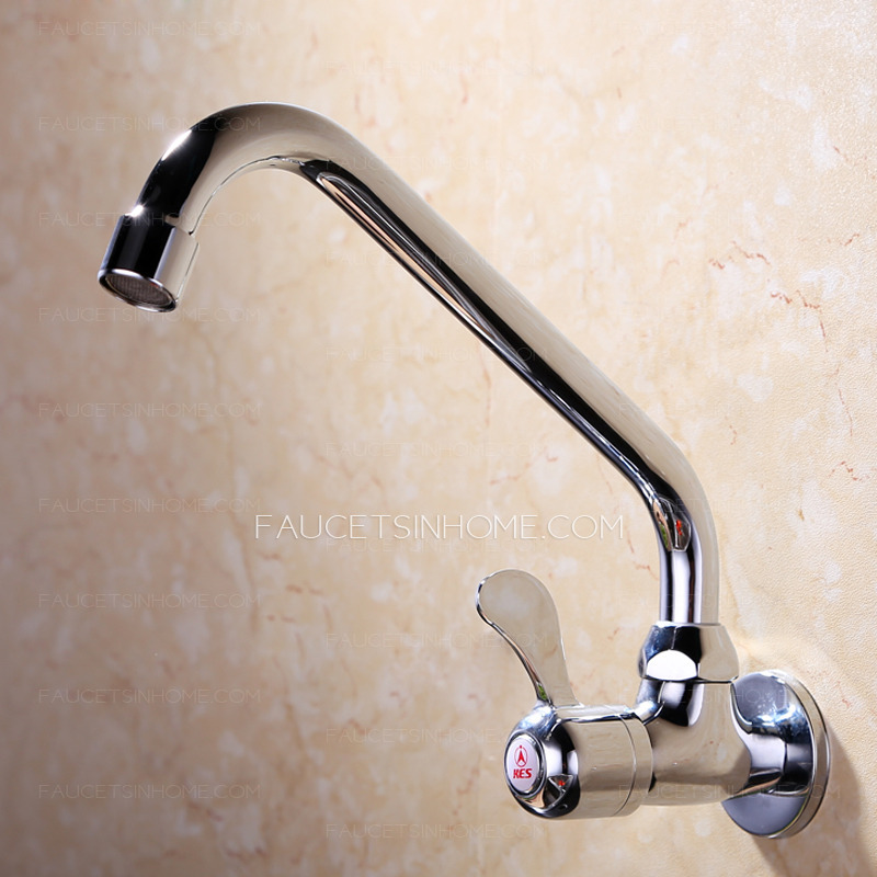 wholesale full rotatable cold water wall mounted kitchen sink faucet ftsih150408011643