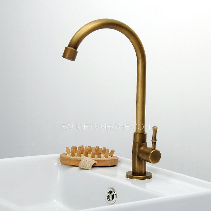 cheap antique brass tall rotatable bathroom sink faucet ftsih150416032633