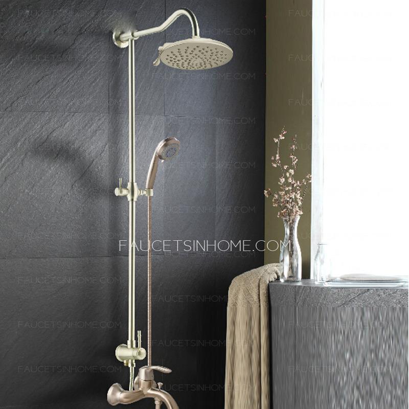 high end brushed nickel bathroom shower faucet system ftsih150508150245
