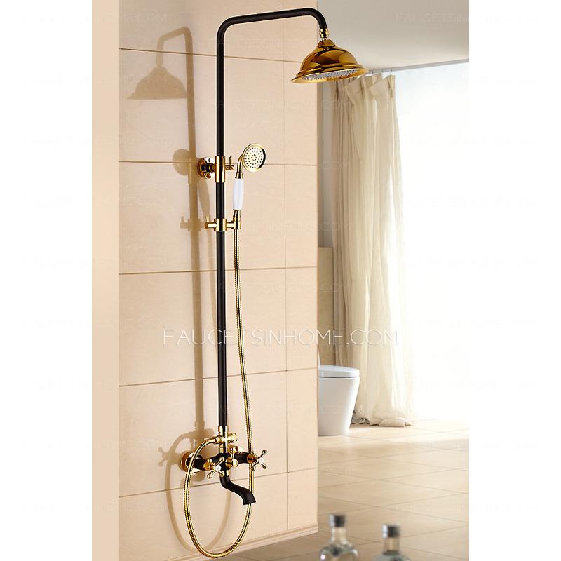 hot sale brass vintage two handle shower faucet antique bronze fth7591