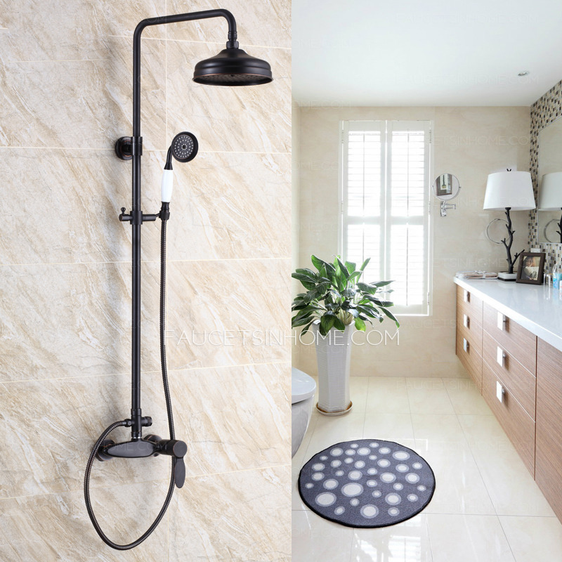 Vintage Oil Rubbed Bronze Single Handle Shower Faucets